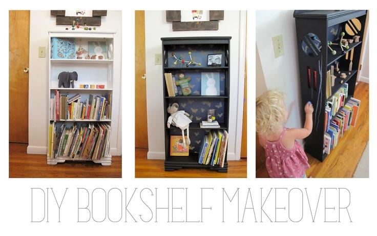 wandering little braves: Easy DIY Bookshelf Makeover