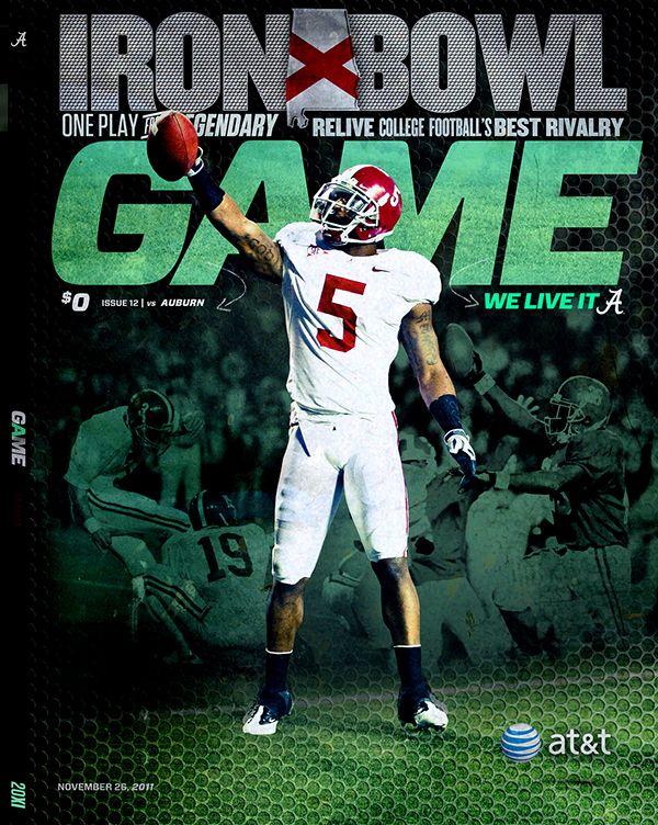 Cover Design for Alabama vs Auburn Game Program #IronBowl #Alabama #RollTide #Bama #BuiltByBama #RTR #CrimsonTide #RammerJammer