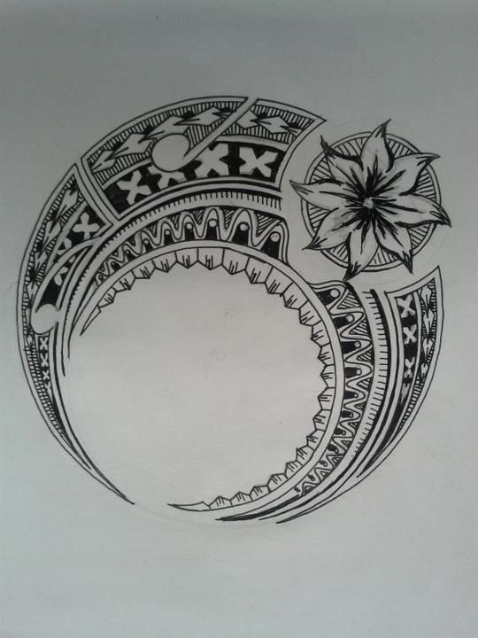 polynesian tattoo (I don't know where I'd place this but I love it )