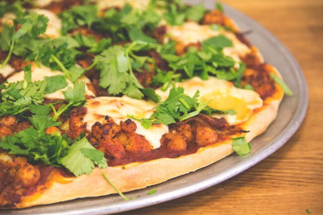 Featured Recipe: Tandoori Chickpea Pizza (Dairy free, Vegan) - Powered by @ultimaterecipe