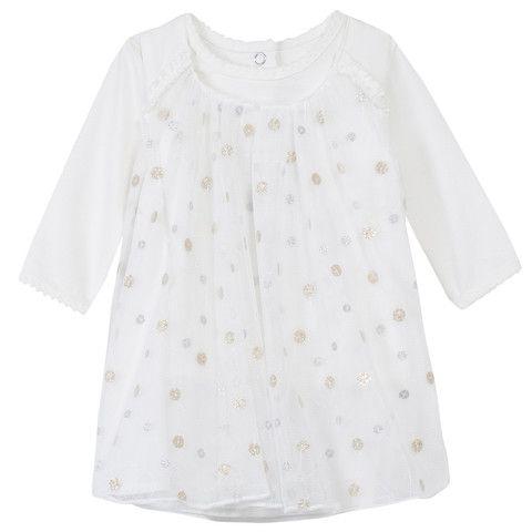 Absorba Childrens Designer Clothes Baby Girl Dress Ecru - Dandy Lions Boutique