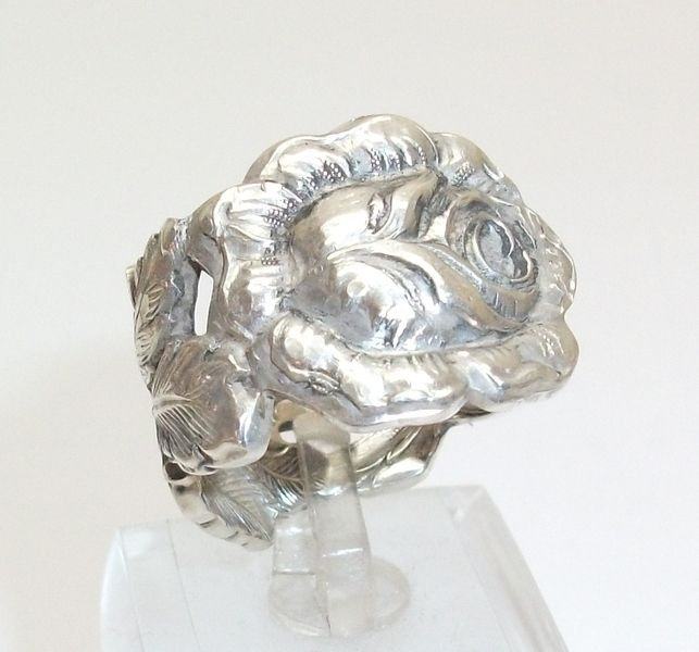 Antiker Silberring 20 mm Hildesheimer Rose SR118 von Atelier Regina auf DaWanda.com