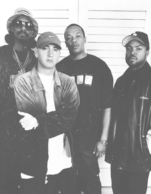 Snoop Dogg, Eminem, Dr. Dre and Ice Cube