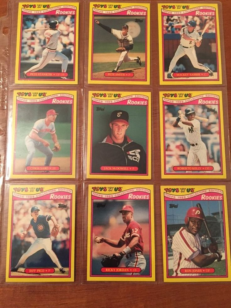 """16 topps 1989 rookies collectors edition toys """"r"""" us baseball cards very nice from $0.99"""