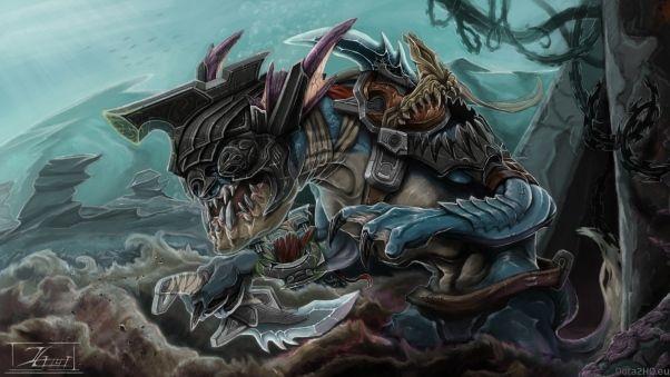 Wallpaper slark, nightcrawler, art, dota 2