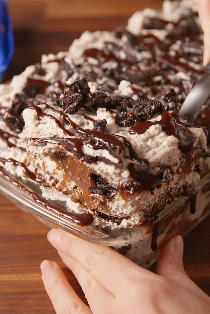 "Oreogasm Lush - This layered dessert ""lasagna"" is heaven for Oreo lovers."