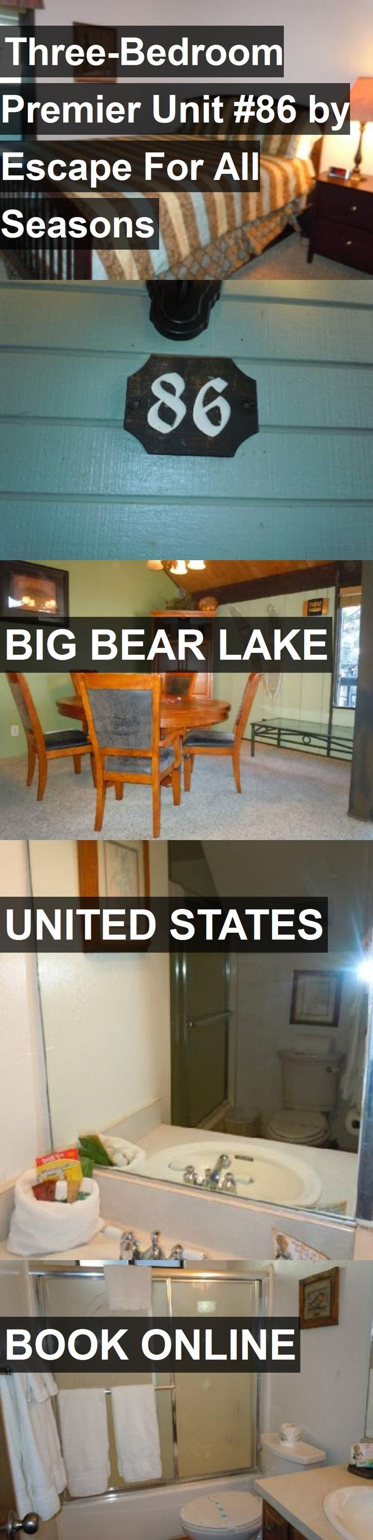 Hotel Three-Bedroom Premier Unit #86 by Escape For All Seasons in Big Bear Lake, United States. For more information, photos, reviews and best prices please follow the link. #UnitedStates #BigBearLake #travel #vacation #hotel