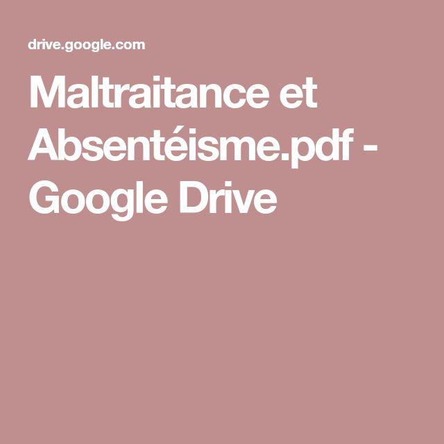 Maltraitance et Absentéisme.pdf - GoogleDrive