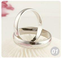 Ingyenes szállítás Nagyker 10db 925 Ezüst Divat Férfi Női Smooth Ring Size7 8 9 (Kína (szárazföld))