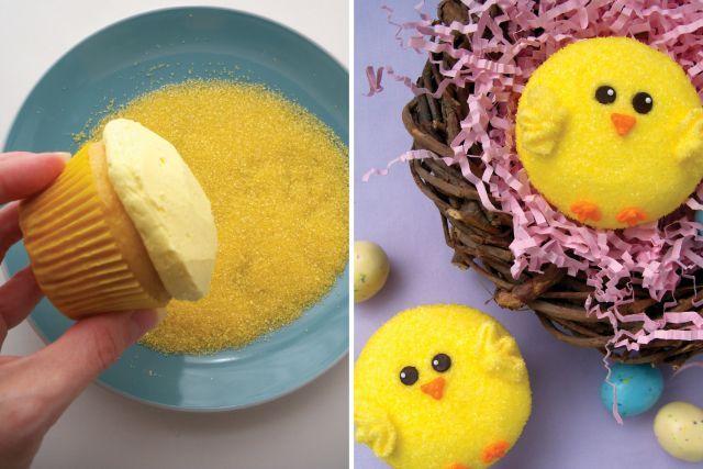 Pâques - Cupcakes - Poussins