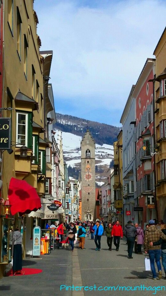 pedestrian street in Sterzing or Vipiteno in South Tyrol, Italy