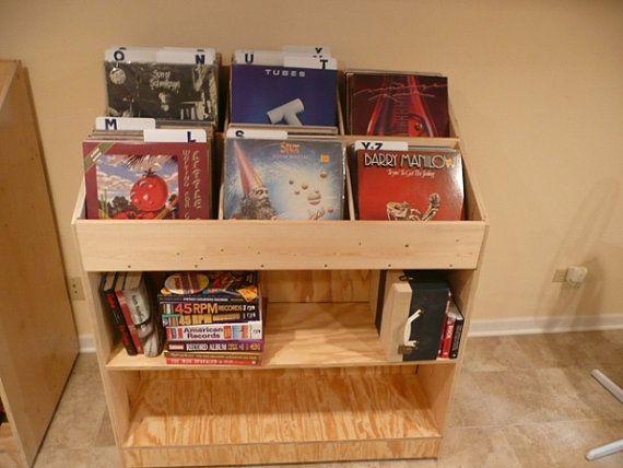 Gentil Vinyl Record Album Storage Bin   Triple