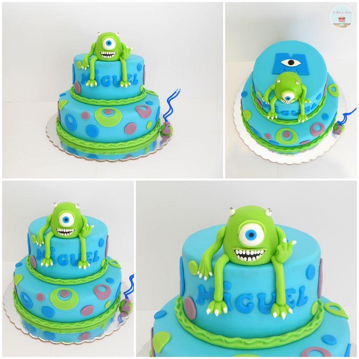 Disney Pixar Monsters Inc Mike Wazowski CakeMike Wazowski Cake    Monster University Mike Wazowski Cake