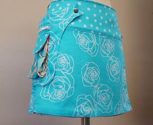 Tutotial y patrón: Falda reversible con riñonera.