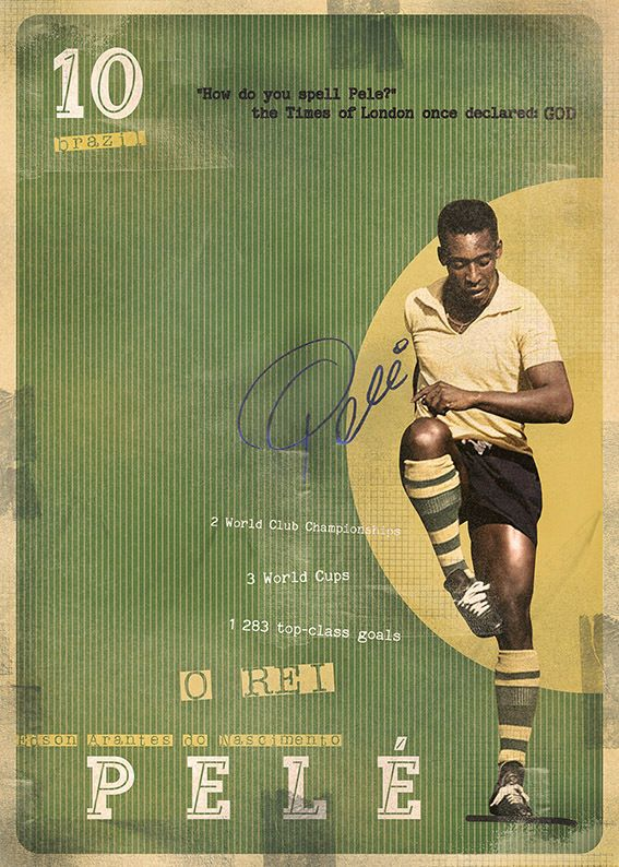 The Gods Of Football (Part I) by Marija Marković on Behance — Pelé (Edson Arantes do Nascimento), Brazil