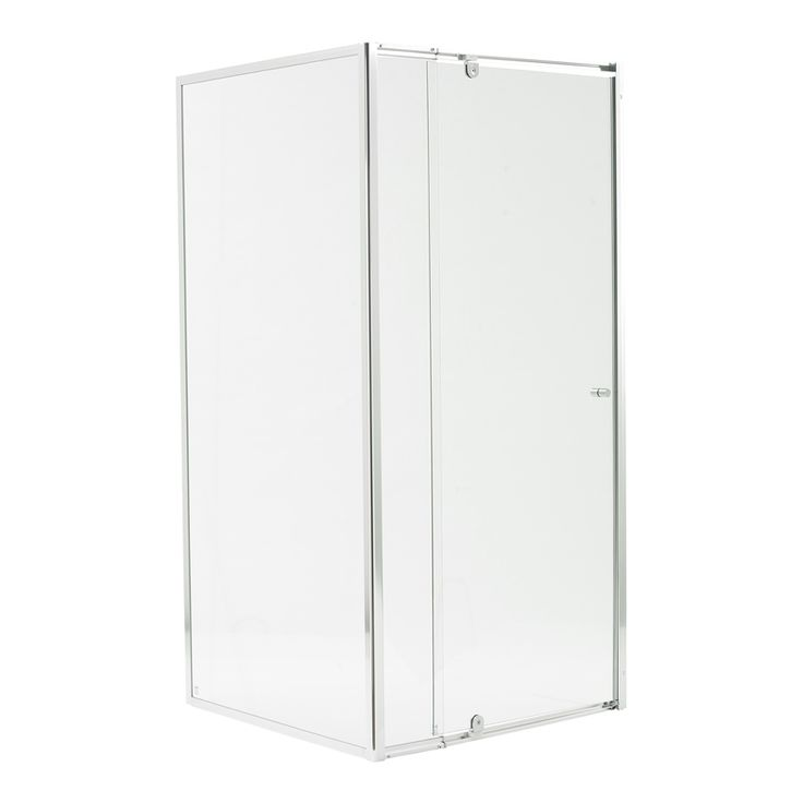 Estilo 1830 x 840-900 x 870mm Chrome Framed Glass Shower Screen