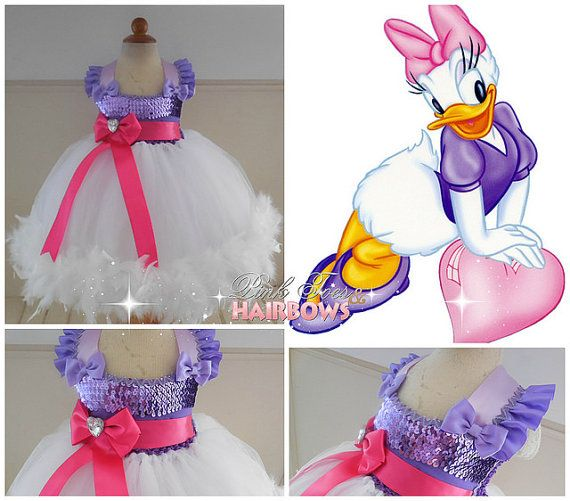 Daisy Duck Tutu dress Daisy Duck tulle dress by GlitterMeBaby                                                                                                                                                                                 Mais