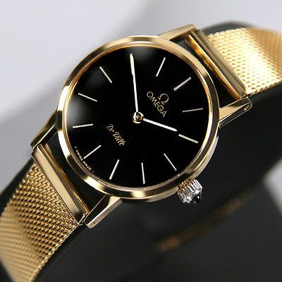 Omega DE VILLE Ladies Manual Winding Cal 625 18K Gold Plated Sapphire Glass