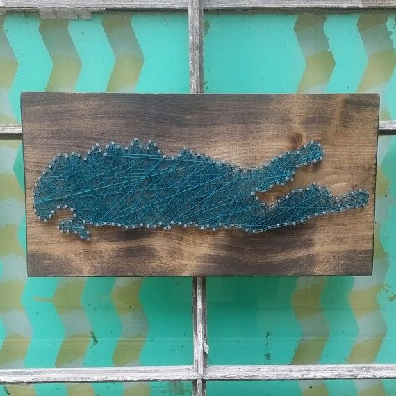 $29 Etsy String Art Long Island, Silhouette of Long Island, Gallery Wall Art, Custom Sign, String Art Sign, New York String Art, Long Island Decor