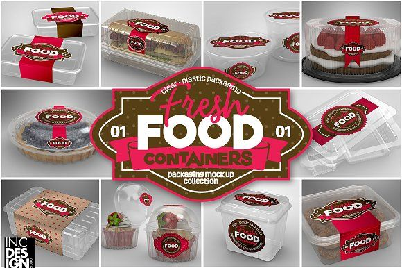 VOL.1 Plastic Food Container MockUps by INC Design on @creativemarket