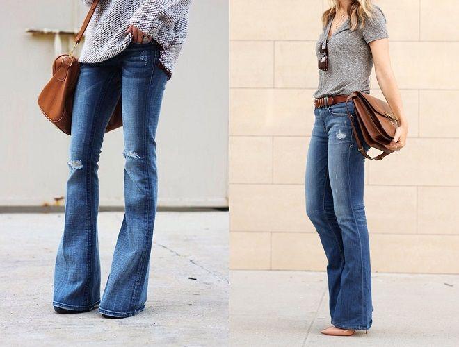 moda veraniega pantalones de campana