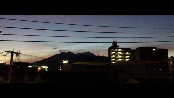 Sakurajima 七十二候「玄鳥去(つばめさる)」の朝をタイムラプス動画でShot on iPhone