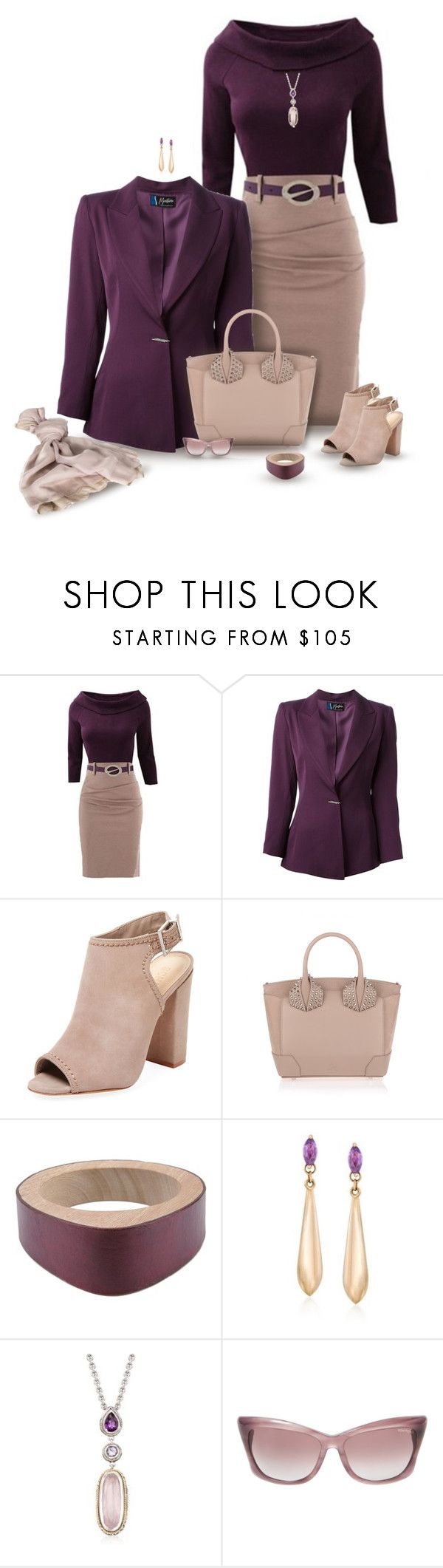 """set"" by vesper1977 ❤ liked on Polyvore featuring Claude Montana, Schutz, Christian Louboutin, Marni, Ross-Simons, Andréa Candela, Tom Ford and Valentino"