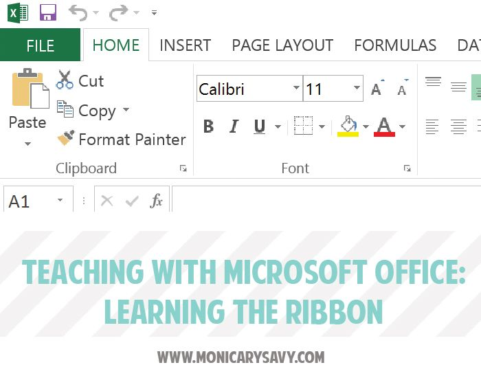 Teaching with #Microsoft Office: Learning the Ribbon: This is one of my favorite lessons for teaching students the ribbon in Microsoft Office. You can use this with any of the applications - Word, Excel, PowerPoint, Access, or Outlook - and with any version-2007, 2010, or 2013.