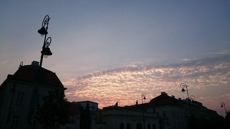 Sunset in the Old Town, Warsaw
