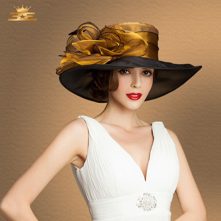 elegant hats | fashion Elegant fedora sinamay hat fascinator kentucky derby hats ...