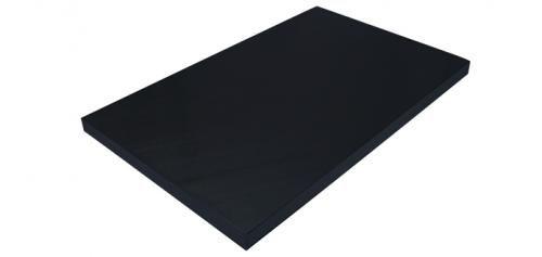 Skærebrætter i Polyethylen (PE) fra Kunst og Køkkentøj (sort). Et stort og et lille.