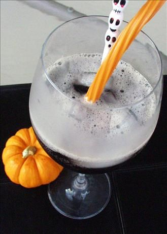 Halloween Black Brew - Malibu Rum, Blue Curacao, Chambord, Grenadine and Cranberry