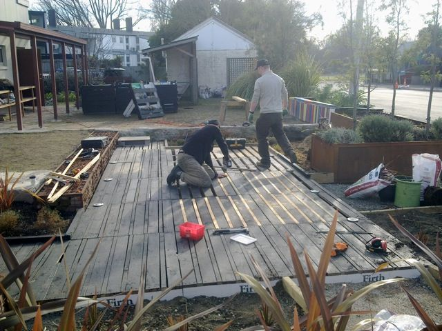 a quick build pallet deck - very little re-work required.