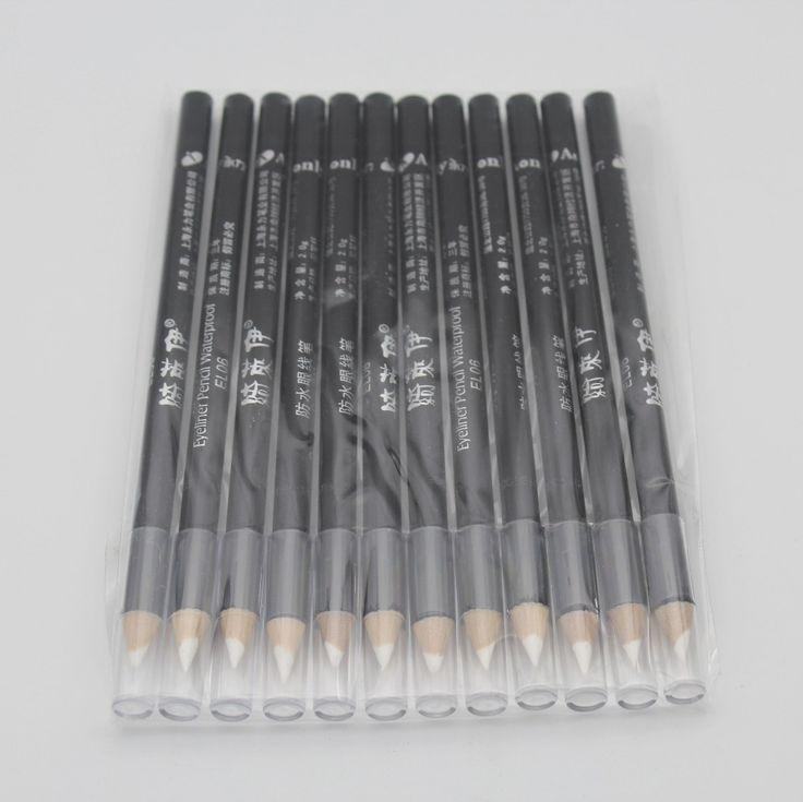 12 pcs/ensemble Professionnel Étanche Blanc Eye-Liner Crayon Maquillage Eyeliner Stylo De Mode Cosmétique Outils