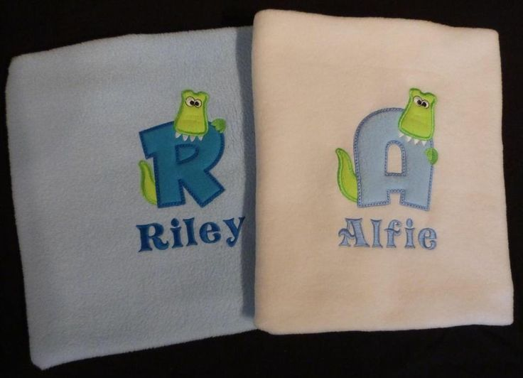11 best stuff to buy images on pinterest personalised baby fleece personalised alphabet crocodile croc baby boy blanket cot pram white cream blue negle Images