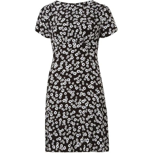 Dorothy Perkins Poppy Print Tea Dress ($57) ❤ liked on Polyvore featuring dresses, multi color, tea dress, tea party dresses, fit flare dress, viscose dress and rayon dress