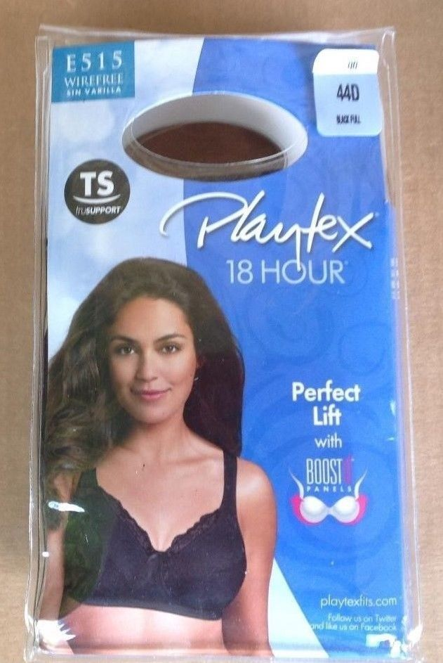 a81ecd1f9d302 Playtex 18 Hour Bra 44D Black E515 Wirefree Perfect Lift with Boost Panels  NIP  fashion  clothing  shoes  accessories  womensclothing  intimatessleep  (ebay ...