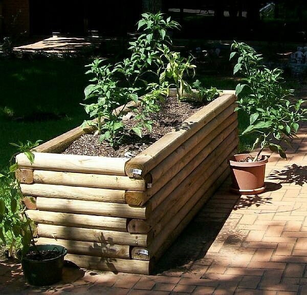 Diy Raised Garden, Landscape Timbers
