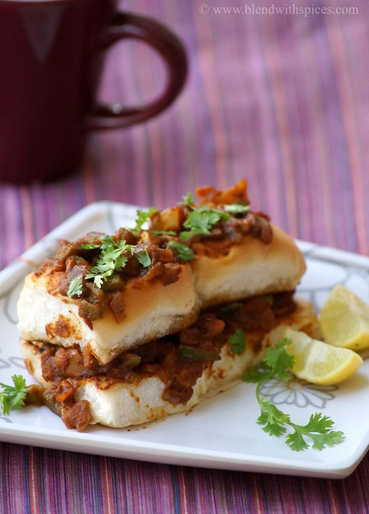Masala Pav Recipe ~ Mumbai Street Food Recipes | Indian Cuisine