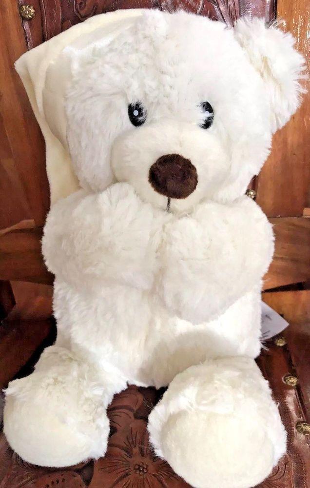 Praying Teddy Bear Soft Plush Teddy Prayers To Sleepy White W Hat