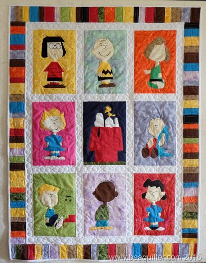18 Best Images About Peanuts Bom Quilt Along 2015 On