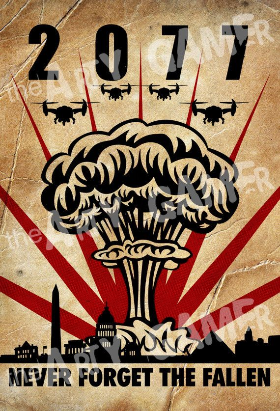 """2077 - Never Forget The Fallen"" Fine Art Propaganda Print / Poster (329 x 483 mm / 13 x 19 inches)"