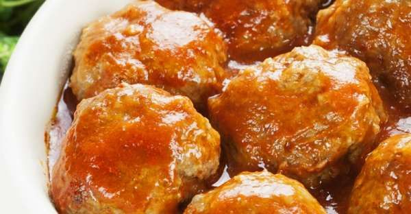 Sweet and Sour Chicken Meatballs  Ingredients  Serves 4 - Makes 12 meatballs This is a printable recipe.  2 Tablespoons olive oil 1 onion, chopped 1 large carrot, chopped 1 (14 1/2 ounce) can chicken broth 1 (15 ounce) can tomato sauce 1/4 cup brown sugar, firmly packed 1/4 cup white vinegar 1 (8 ounce) can crushed pineapple in juice 1/4 cup ketchup 1 slice bread 2 Tablespoons milk 2 lb ground chicken 1/2 zucchini, shredded 1 egg, beaten 1 teaspoon salt 1/2 teaspoon black pepper