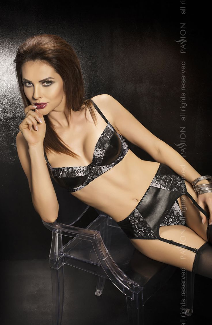 Passion Bravuro Set £45.99  Stunning 3 piece underwired bra set. The Second Skin range feature stretchy and breathable high quality faux leather fabric. Designed to fit the contours of the body like a second skin. #passion #lingerie