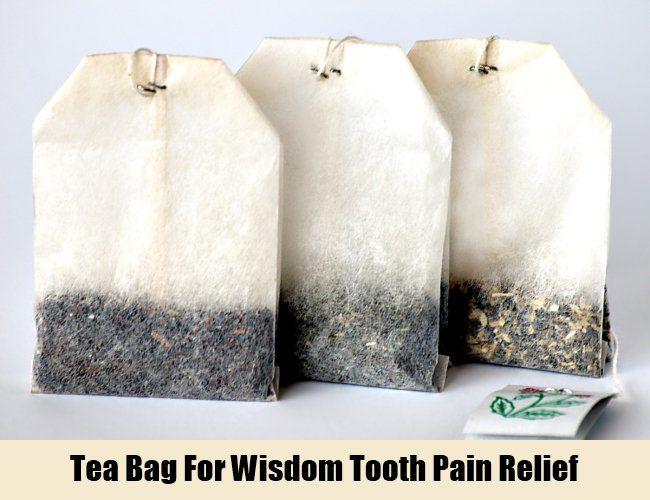 Tea Bag For Wisdom Tooth Pain Relief