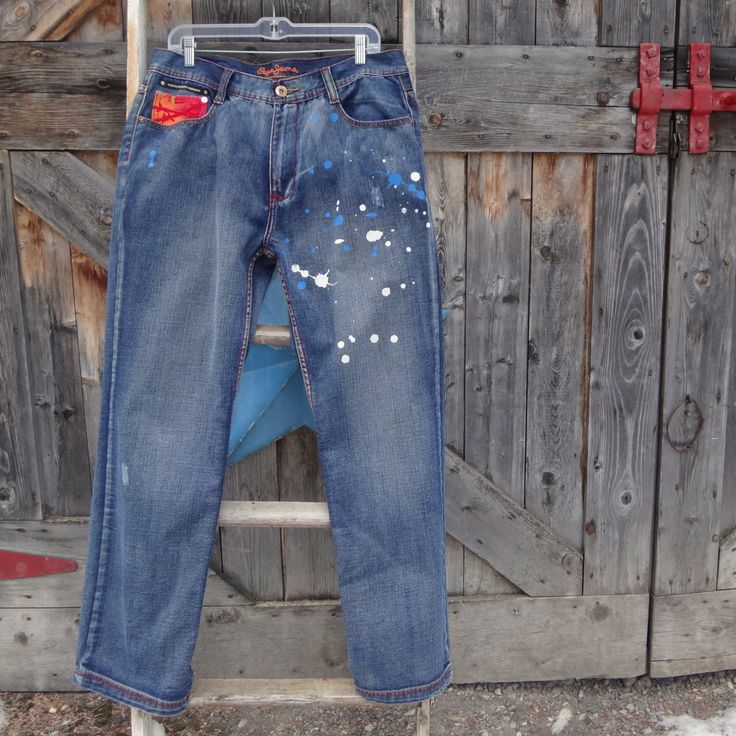 1990's, men's Pepe London jeans, size 34 by suelovesjunk on Etsy