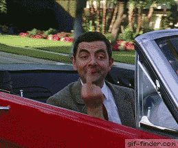 Mr.Bean – Middle Finger | Gif Finder – Find and Share funny animated gifs
