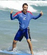 Thumbs up!  Cheyne Horan Surf School