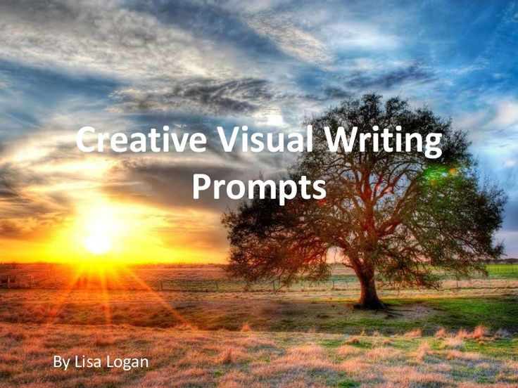 Creative photo or visual writing prompts to promote creativity and divergent thinking in students...enjoy
