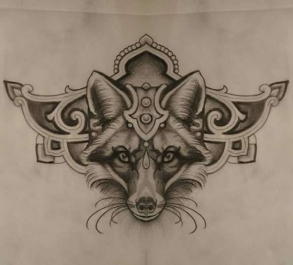 Татуировка Эскиз татуировки Лисы